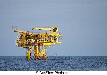 plataforma de producción, de, aceite y gas
