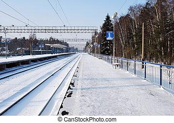 plataforma, estrada ferro