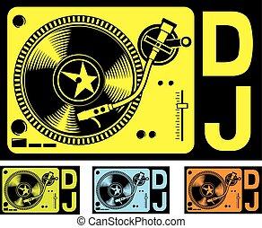 plataforma giratória dj, música