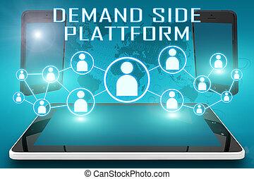 plataforma, lado, demanda