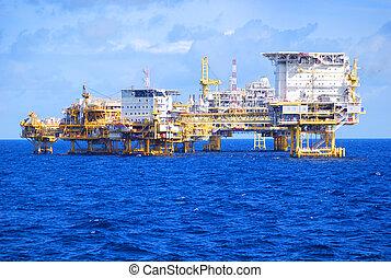 plataforma petrolera, costa afuera