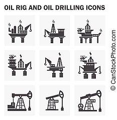 plataforma petrolera, iconos