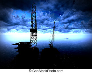 plataforma, plataforma petrolera