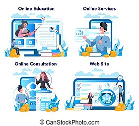 plataforma, set., servicio, underwriter, empresa / negocio, ...