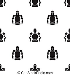 Plate armor icon in black style isolated on white background. Museum pattern stock vector illustration.