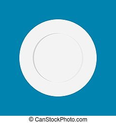 Plate empty isolated. blank white dish. cookware, kitchen utensils