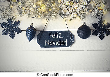 Plate, Fairy Light, Feliz Navidad Means Merry Christmas -...