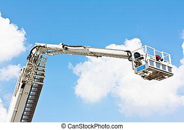 plate-forme, articulé, aérien, hydraulique