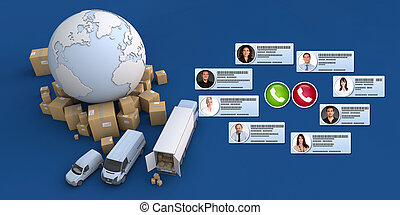 plate-forme, ligne, commerce international