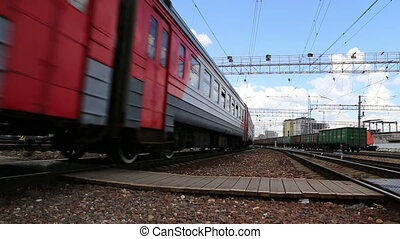 plate-forme, moscou, train passager