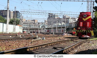 plate-forme, moscou, train, passager