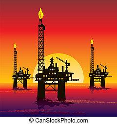 plate-forme pétrole