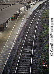 plate-forme,  train,  station