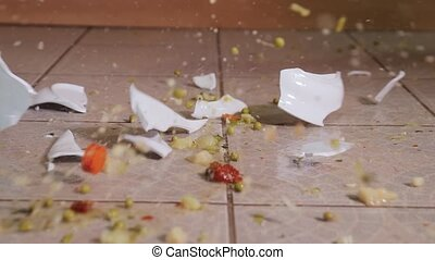 Plate hitting the ground