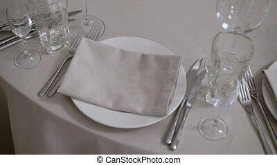 Plate in restaurant
