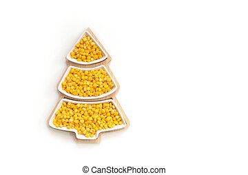 plate in the form of a Christmas tree