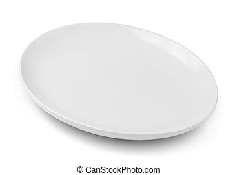 plate isolated on a white background