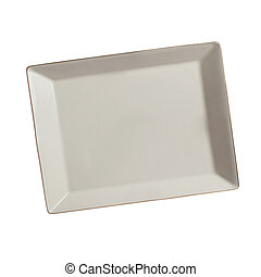 plate isolated on a white