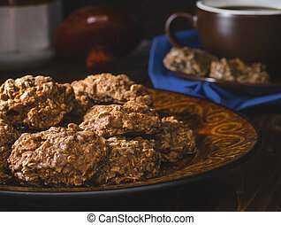 Plate of Chocolate Fudge Cookies