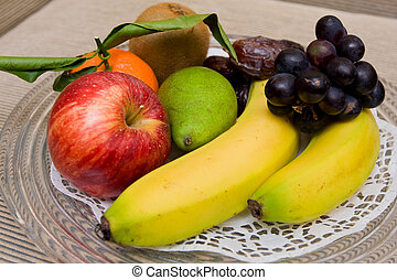 Plate of colorful fruits