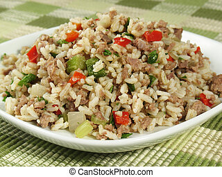 Plate of Dirty Rice