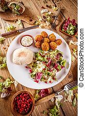 Plate of falafel
