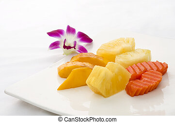 Plate of Fresh Fruit