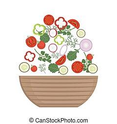 Plate of fresh salad