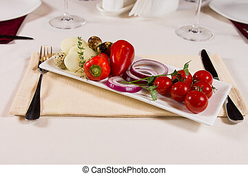Plate of fresh vegetables
