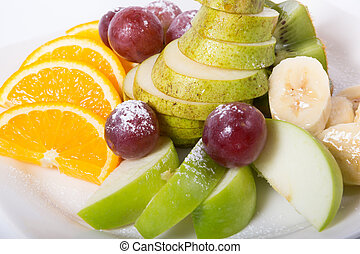 Plate of mixed fruits