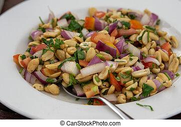 Plate of Peanut Masala