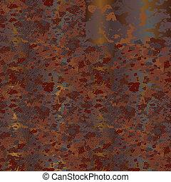 rust - Plate  of rusty metal. Seamless.
