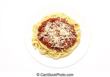 Plate of spaghetti