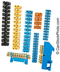 Plate of terminals  - Components for use in electrical ...
