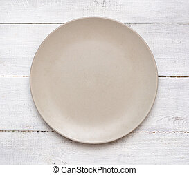 Plate on a table
