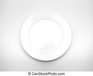 Plate. On a white background.