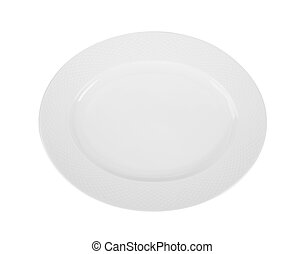 plate on white background. top view