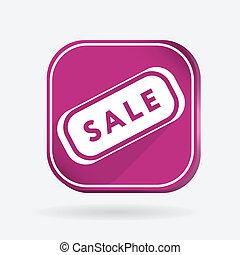 plate sale. Color square icon