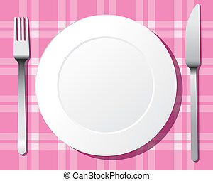Plate set vector