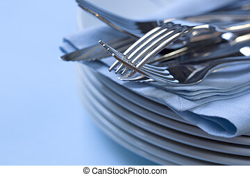 Plate Stack and Cutlery