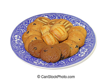 Plate with biscuits