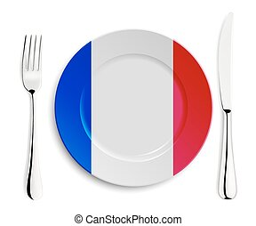 Plate with flag of France