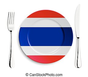 Plate with flag of Thailand