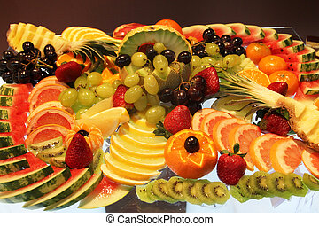 Plate with fruits and berries