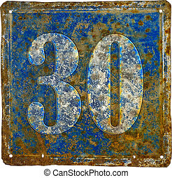 plate with number thirty