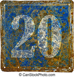 plate with number twenty