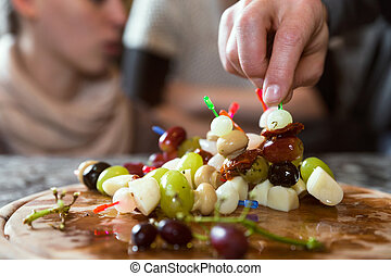 plate with party snacks