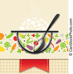 plate with vegetable, food background