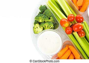 plateau, végétarien, cru