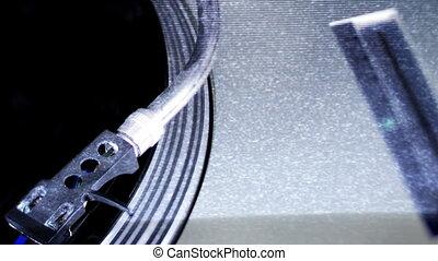plateaux tourne-disques, dj, travers, moule